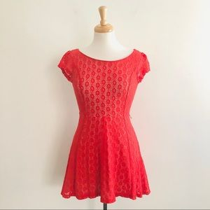 Charlotte Russe Lace Overlay Dress Size Small